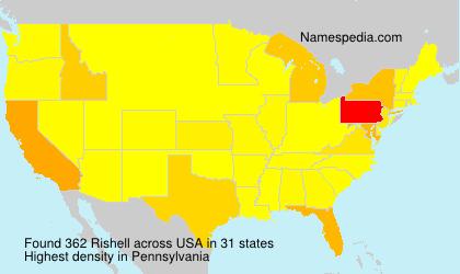 Familiennamen Rishell - USA