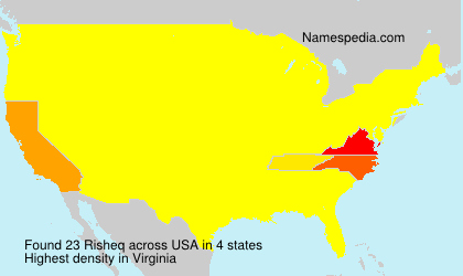 Surname Risheq in USA
