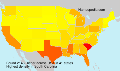 Surname Risher in USA