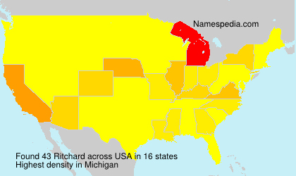 Surname Ritchard in USA