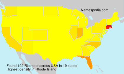 Surname Ritchotte in USA