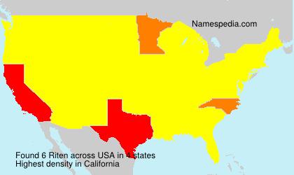 Surname Riten in USA