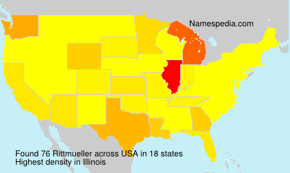 Surname Rittmueller in USA