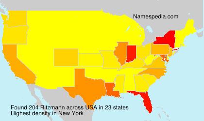 Surname Ritzmann in USA
