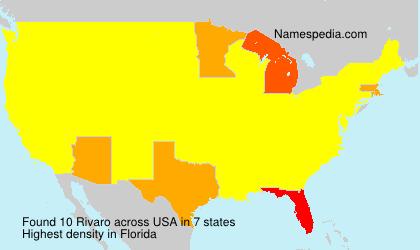 Surname Rivaro in USA