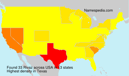 Surname Rivaz in USA