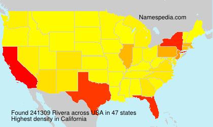 Familiennamen Rivera - USA