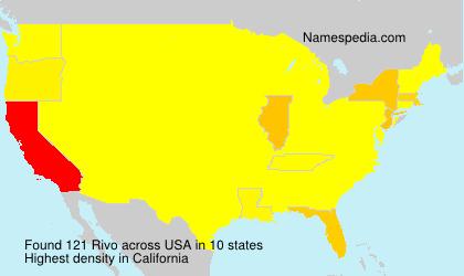 Surname Rivo in USA
