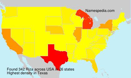 Surname Riza in USA