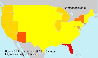 Surname Rizea in USA