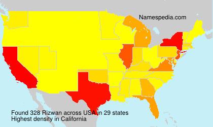 Surname Rizwan in USA