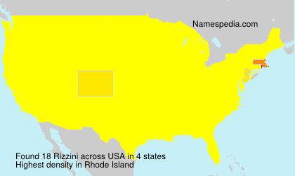 Surname Rizzini in USA