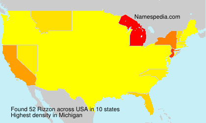 Surname Rizzon in USA