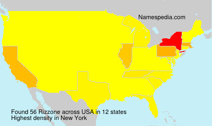 Surname Rizzone in USA