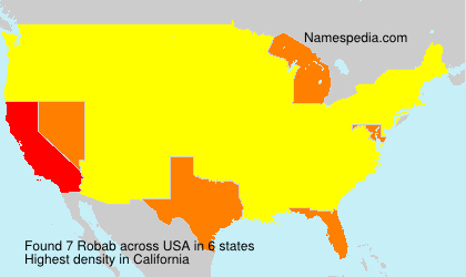 Surname Robab in USA