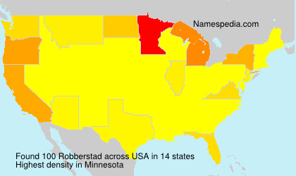 Surname Robberstad in USA