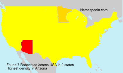 Surname Robbestad in USA