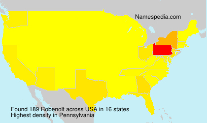 Surname Robenolt in USA