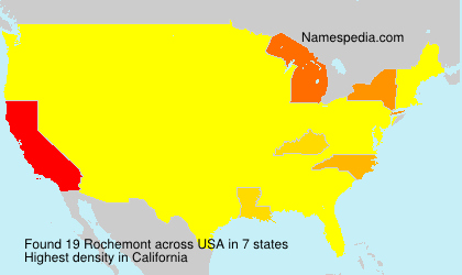 Surname Rochemont in USA