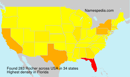 Surname Rocher in USA
