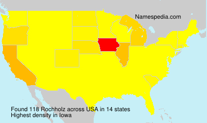 Surname Rochholz in USA