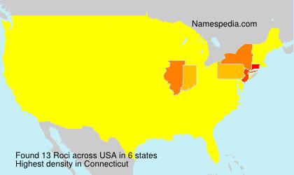 Surname Roci in USA