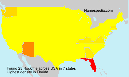 Surname Rockliffe in USA