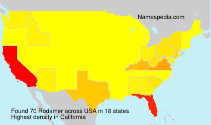 Surname Rodamer in USA