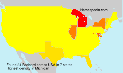 Surname Rodbard in USA