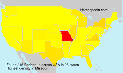 Surname Roderique in USA
