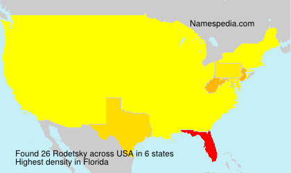 Surname Rodetsky in USA
