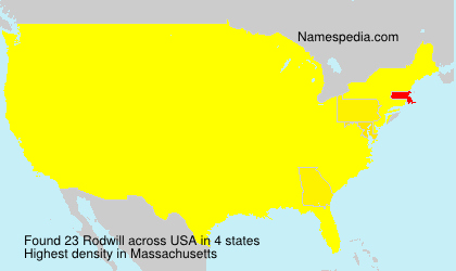 Surname Rodwill in USA