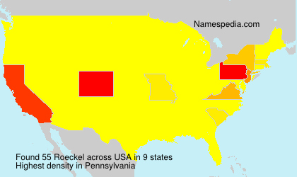 Surname Roeckel in USA