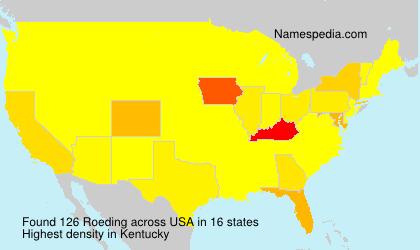 Surname Roeding in USA
