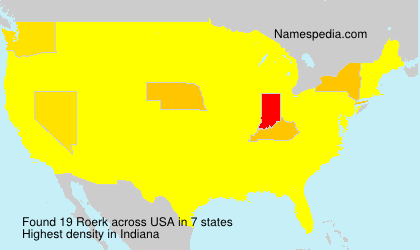 Surname Roerk in USA