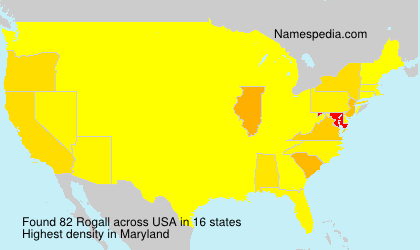 Surname Rogall in USA
