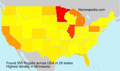 Surname Rogalla in USA