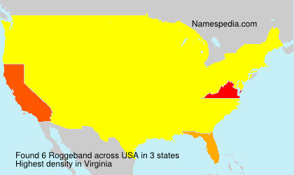 Surname Roggeband in USA