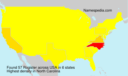 Surname Rogister in USA