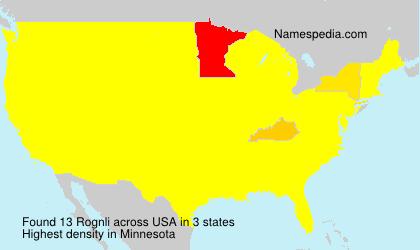 Familiennamen Rognli - USA