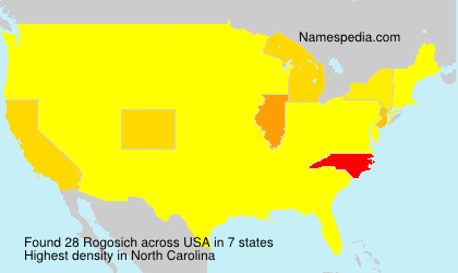 Surname Rogosich in USA