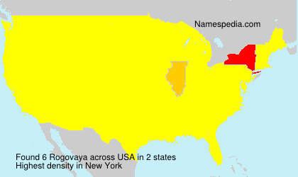 Surname Rogovaya in USA