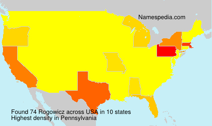 Surname Rogowicz in USA