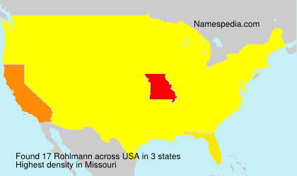 Surname Rohlmann in USA
