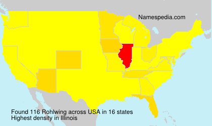 Surname Rohlwing in USA