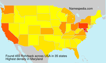 Surname Rohrback in USA