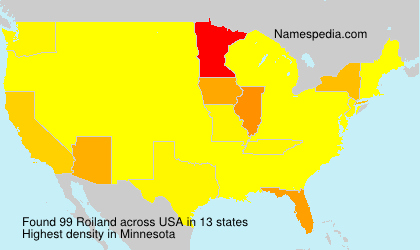 Surname Roiland in USA