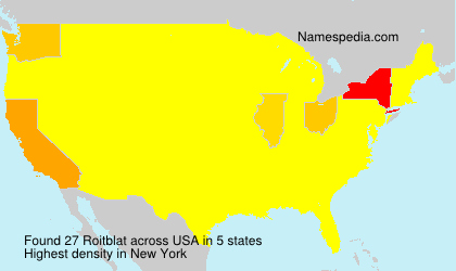 Surname Roitblat in USA