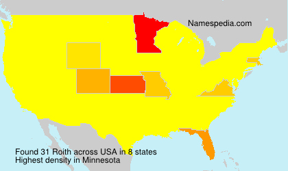 Surname Roith in USA