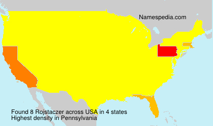 Surname Rojstaczer in USA